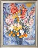 Bouquet des Fleurs Print by Marc Chagall