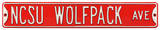 NCSU Wolfpack Ave Steel Sign Wall Sign