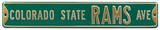 Colorado State Rams Ave Steel Sign Wall Sign