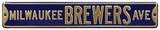 Milwaukee Brewers Ave Steel Sign Wall Sign