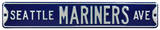 Seattle Mariners Ave Steel Sign Wall Sign