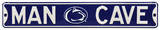 Man Cave Penn State Steel Sign Wall Sign