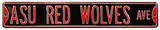 ASU Red Wolves Ave Steel Sign Wall Sign