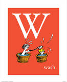 W is for Wash (red) Prints by Theodor (Dr. Seuss) Geisel
