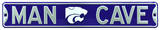 Man Cave Kansas State Steel Sign Wall Sign