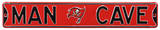 Man Cave Tampa Bay Bucs Steel Sign Wall Sign