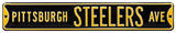 Pittsburgh Steelers Ave Black Steel Sign Wall Sign