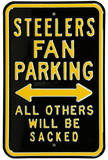 Steelers Sacked Parking Steel Sign Wall Sign
