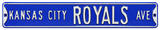 Kansas City Royals Ave Steel Sign Wall Sign
