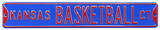 Kansas Basketball Ct Steel Sign Wall Sign