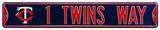 Twins Way w/Logo Steel Sign Wall Sign