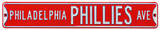 Philadelphia Phillies Ave Steel Sign Wall Sign
