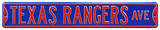 Texas Rangers Ave Steel Sign Wall Sign