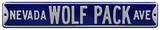 Nevada Wolf Pack Ave Steel Sign Wall Sign