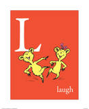 L is for Laugh (red) Print by Theodor (Dr. Seuss) Geisel