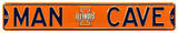Man Cave Illinois Illini Steel Sign Wall Sign