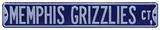 Memphis Grizzlies Ct Steel Sign Wall Sign