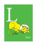 L is for Lion (green) Posters by Theodor (Dr. Seuss) Geisel