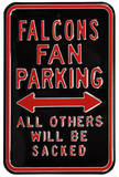 Falcons Sacked Parking Steel Sign Wall Sign