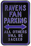 Ravens Sacked Parking Steel Sign Wall Sign