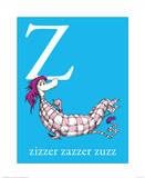 Z is for Zizzer Zazzer Zuzz (blue) Prints by Theodor (Dr. Seuss) Geisel