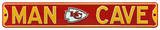 Man Cave Kansas City Chiefs Steel Sign Wall Sign
