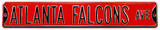 Atlanta Falcons Ave Steel Sign Wall Sign