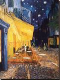 Caféterras bij nacht Kunstdruk op gespannen doek van Vincent van Gogh