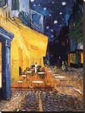 The Caf&#233; Terrace on the Place du Forum, Arles, at Night, c.1888 Stretched Canvas Print by Vincent van Gogh