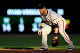 Cincinnati, OH - October 09: San Francisco Giants v Cincinnati Reds - Marco Scutaro Photographic Print by Jonathan Daniel