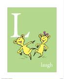 L is for Laugh (green) Kunstdrucke von Theodor (Dr. Seuss) Geisel