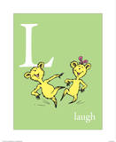 L is for Laugh (green) Prints by Theodor (Dr. Seuss) Geisel