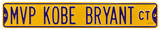 MVP Kobe Bryant Ct Steel Sign Wall Sign