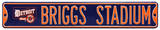 Briggs Stadium Detroit Steel Sign Wall Sign