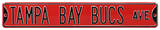 Tampa Bay Bucs Ave Steel Sign Wall Sign