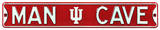 Man Cave Indiana Hoosiers Steel Sign Wall Sign