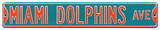 Miami Dolphins Ave Steel Sign Wall Sign
