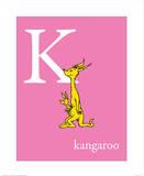 K is for Kangaroo (pink) Plakater af Theodor (Dr. Seuss) Geisel