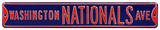 Washington Nationals Ave Navy Steel Sign Wall Sign