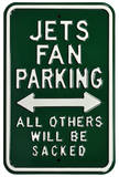 Jets Sacked Parking Steel Sign Wall Sign