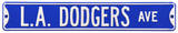 L.A. Dodgers Ave Steel Sign Wall Sign