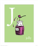 J is for Jelly (green) Posters by Theodor (Dr. Seuss) Geisel