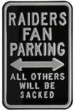 Raiders Sacked Parking Steel Sign Wall Sign