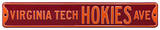 Virginia Tech Hokies Ave Steel Sign Wall Sign