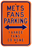 Mets Yankees Go Home Parking Steel Sign Wall Sign