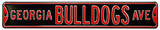 Georgia Bulldogs Ave Black Steel Sign Wall Sign