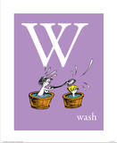 W is for Wash (purple) Print by Theodor (Dr. Seuss) Geisel