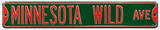 Minnesota Wild Ave Steel Sign Wall Sign
