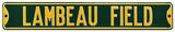 Lambeau Field Steel Sign Wall Sign