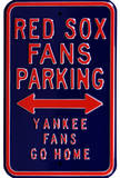 Red Sox Yankees Go Home Parking Steel Sign Wall Sign